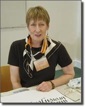 Margaret Morgan at Sunderland    International Calligraphy Symposium 2007